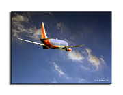 Passenger Plane Metal Prints - Southwest Metal Print by Brian Wallace