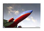 Passenger Plane Metal Prints - Southwest Jet Metal Print by Brian Wallace