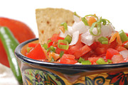 Tex-mex Art - Spicy salsa with variety of ingredients by David Smith