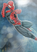 Spiderman Digital Art Prints - Spiderman Print by Quinetta Middlebrooks