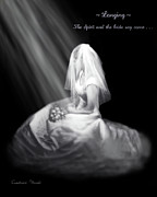Black And White Photography Paintings - Spirit and Bride Say Come by Constance Woods