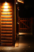 Simon Bratt Photography - Spot light lodge at night with space...