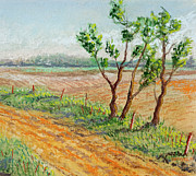 Spring Pastels Originals - Spring Fence by David Bratzel