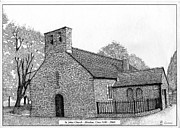 Etc. Drawings - St. Johns Church Aberdare by Alwyn Isaac