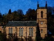 Saint Luke Framed Prints - St Lukes Church Ironbridge Framed Print by Sarah Broadmeadow-Thomas