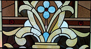 Horizontal Glass Art Posters - Stained Glass LC 04 Poster by Thomas Woolworth