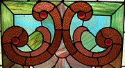 Horizontal Glass Art Posters - Stained Glass LC 05 Poster by Thomas Woolworth