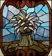 Featured Glass Art Prints - Stained Glass LC 11 Print by Thomas Woolworth