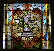 Featured Glass Art Prints - Stained Glass LC 12 Print by Thomas Woolworth