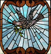 Featured Glass Art Prints - Stained Glass LC 14 Print by Thomas Woolworth