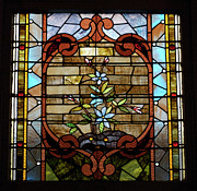 Featured Glass Art Prints - Stained Glass LC 18 Print by Thomas Woolworth