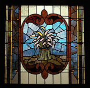 Featured Glass Art Prints - Stained Glass LC 20 Print by Thomas Woolworth