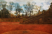 Flypaper Textures Photos - Stairway in Central Park by Susan Gary