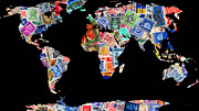 Wingsdomain Art and Photography - Stamps of The World Map . v1