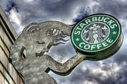 Seattle Tapestries Textiles Acrylic Prints - Starbucks Coffee Acrylic Print by Spencer McDonald