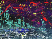 Liberty Paintings - Stary City Nite by Nino  B