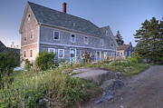 Sterling Harbor House Print by J R Baldini Master Photographer