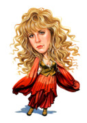 Celeb Prints - Stevie Nicks Print by Art
