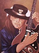Stevie Ray Vaughan Blues Legend Art - Stevie Ray Vaughan by Helen Thomas