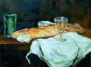 Diane Kraudelt - Still Life Of Bread and Eggs