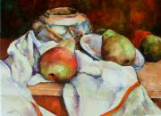 Diane Kraudelt - Still Life Of Jar and Pears