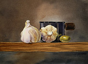Irina Sztukowski - Still Life With Garlic and Olive
