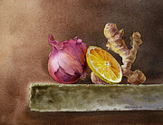 Irina Sztukowski - Still Life With Onion Lemon And Ginger