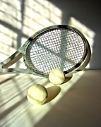 Racket Framed Prints - Still Life With Racket and Balls Framed Print by Chuck Purro
