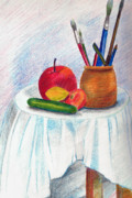 Apple Paintings - Still Life by Zara GDezfuli