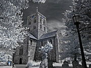 Infer Prints - St.Mary De Haura - Shoreham Infrared Print by Steven Cragg