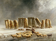 Walter Williams - Stonehenge in Winter