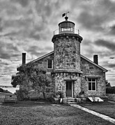 Www.guywhiteleyphoto.com Framed Prints - Stonington Lighthouse 15328b Framed Print by Guy Whiteley