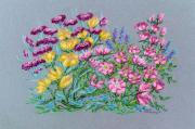 Floral Pastels Prints - Summer Flowers Print by Collette Hurst