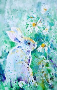 Hare Paintings - Summer Smells by Zaira Dzhaubaeva