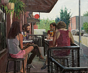 Elinore Schnurr Art - Sunday Morning Drinks by Elinore Schnurr