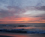 Surf Photos Art Posters - Sunrise Ocean 123 Poster by Joyce StJames