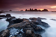 Crashing Photos - Sunset at Seal Rock by Keith Kapple