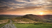 Castleton Framed Prints - Sunset From Mam Tor, Peak District Framed Print by Verity E. Milligan