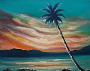 Sunsets Original Paintings - Sunset in Paradise  by Gina De Gorna