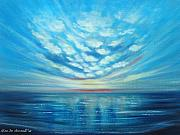 Sunsets Original Paintings - Sunset Quest BLUE by Gina De Gorna