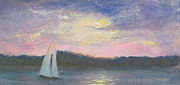 September 11 Originals - Sunset Sail-tribute to 9-11 by Ruth Ann Sturgill