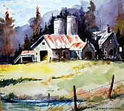 Farm Buildings Painting Originals - Sunshine and The Barn by Wilfred McOstrich