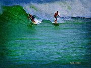 Smooth Ride Posters - Surfing Series IIII Poster by Karen Devonne Douglas