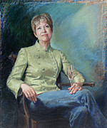 Champagne Paintings - Susan Esco Chandler by Sandy Spring