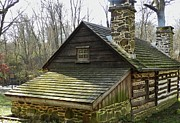 Log Cabins Photos - Swedish Cabin Back by Snapshot  Studio
