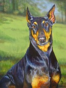 Doberman Paintings - Sweet Protection by Pat Burns