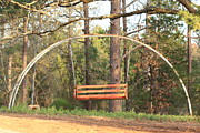 Dirt Roads Mixed Media - Swing Under The Rainbow by Kim Henderson