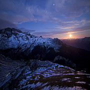 Angel  Tarantella - Swiss Alps in the moonlight
