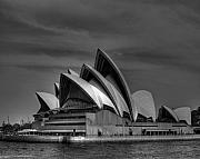 Chris Smith - Sydney Opera House Print Image in Black...