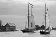 Suzanne Gaff - Tall Ships Sailing II in black and white